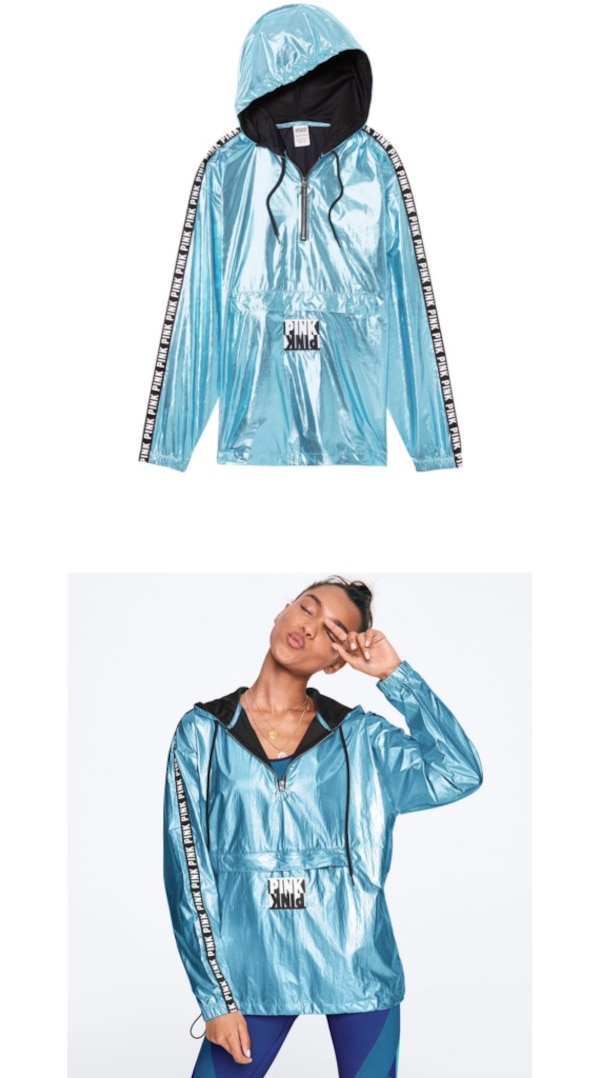 b5fd9ef0 NWT Victoria's Secret Iridescent Teal Pearl Sports Anorak Metallic Jacket  usagé à vendre à Oakland