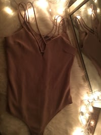Beige Body suite from Charolette Russe