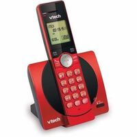 VTech CS6919-16 DECT 6.0 Expandable Cordless Phone with Caller ID and Handset Speakerphone, Red Mississauga