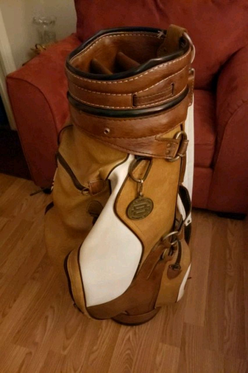 Photo Belding Sports Leather Golf Bag
