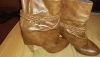 Tan heeled boot Salina
