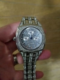 round silver chronograph watch with link bracelet Wappingers Falls, 12590
