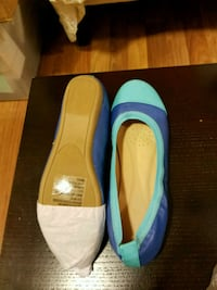 pair of blue-and-yellow slip on shoes Bristow, 20136