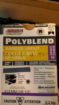 Polyblend sanded grout  ocean blue 5 gallon pal