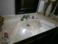 """Corian vanity counter top. 59"""" Mississauga, L5G"""