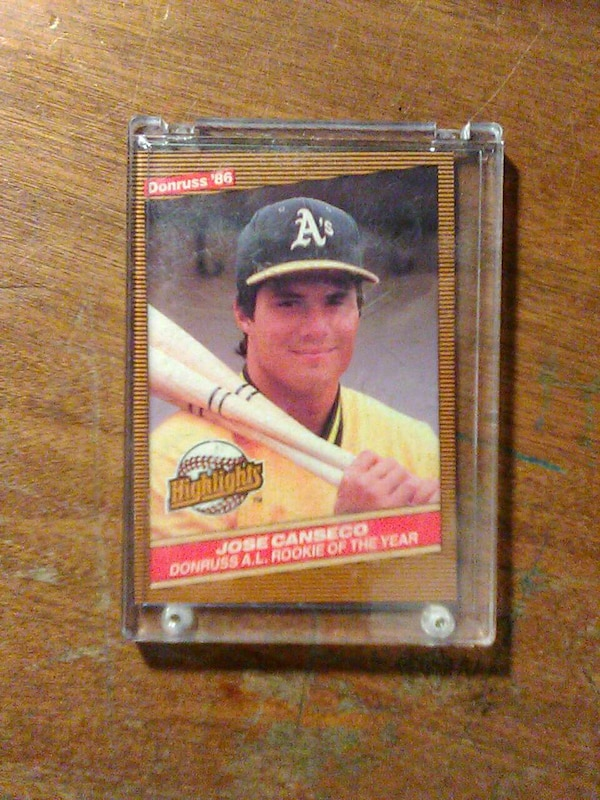 Used Jose Canseco Baseball Player Card For Sale In Bloomington Letgo