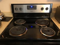 black and gray electric coil range oven Germantown, 20874