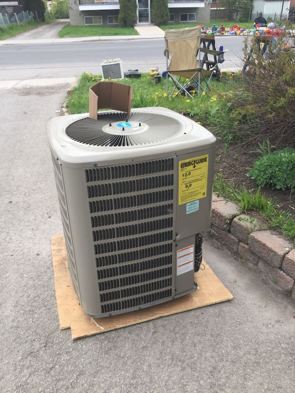 White and gray air cooler