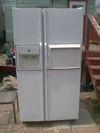 white side-by-side refrigerator with dispenser City of Orange, 07050