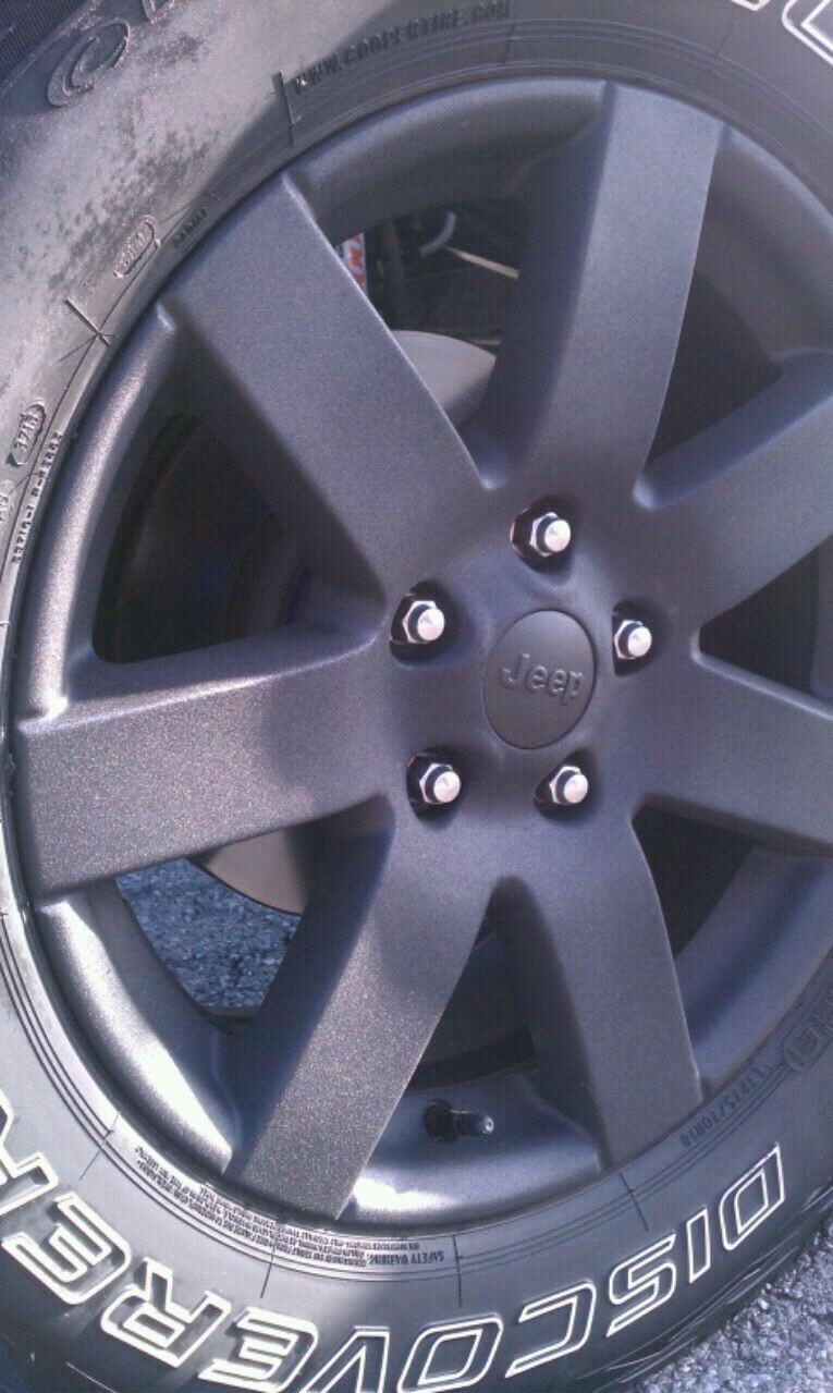 Photo Make offer Jeep Wheels black with Cooper Discoverer A/T3 275/70R18 t