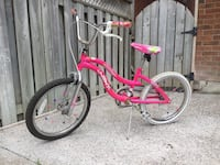 toddler's pink and white bicycle Orangeville, L9W 4Y3
