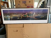 """Pittsburgh skyline picture 44""""x14"""""""