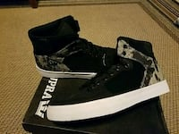 pair of black-and-white high top sneakers Denton, 76210