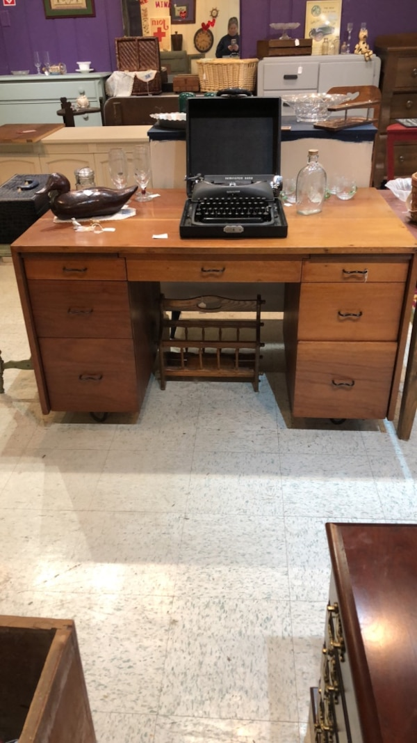 Mid century, solid wood desk