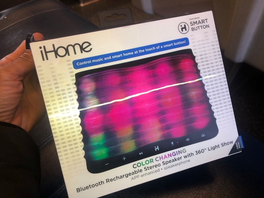 iHome iBT751 Color Changing Bluetooth Stereo Speaker with Disco Rear Projection