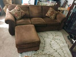 Comfy three cushion couch for sale