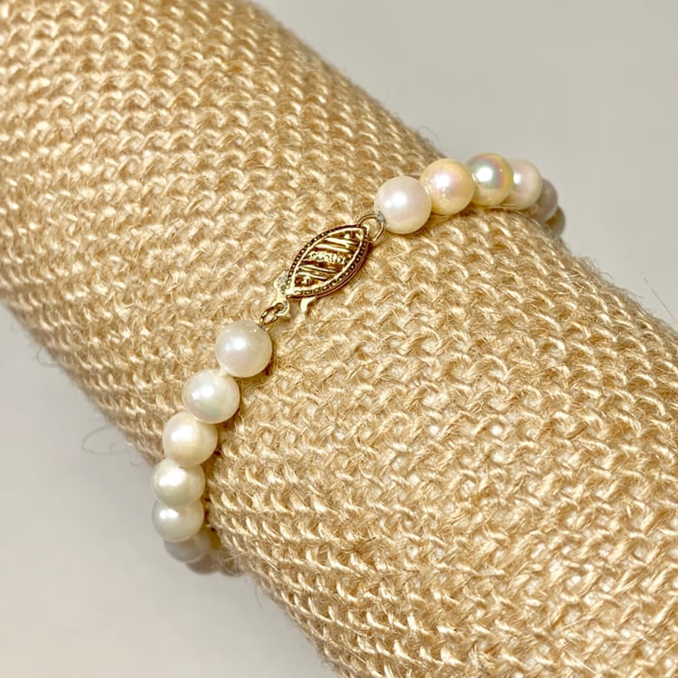 Authentic Pearl Bracelet with 14k Gold Clasp d3d99006-ca4f-4730-a8cc-caa4344dd469