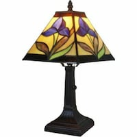 Amora Lighting Tiffany Style AM078TL08 14.5-inch Floral Mini Table Lamp