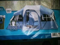 white and blue tent box 53 km