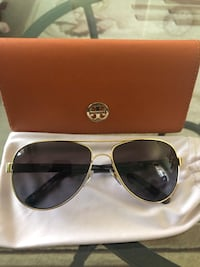TORY BURCH POLARIZED WOMEN AVIATOR SUNGLASS NEW!