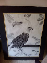 Handmade Original Eagle Drawing Regina, S4X