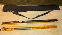 brown and black cue stick with bag Kansas City, 66117