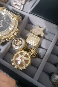 Jewelry bling iced out rings