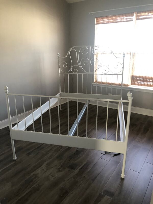 IKEA full size bed frame with firm full size mattress 8493ecad-826c-4d09-bba4-64ed6018c69a