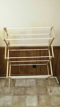 All wood clothes rack