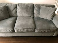 gray fabric 3-seat sofa 554 km