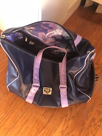 black and purple leather tote bag Oceanside