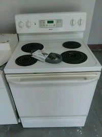 white and black 4-coil electric range oven Columbia