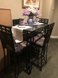 rectangular brown wooden dining table with chairs set Elk Grove, 95757