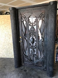 Black steel door