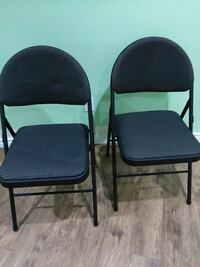 2 upholstered folding chairs  Markham, L3T 5B8