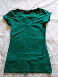 Green t-shirt with some spandex size small