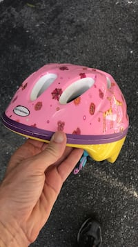 children's pink and yellow bicycle helmet Baltimore, 21218