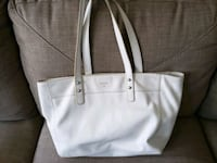 White Leather Fossil Tote Beltsville
