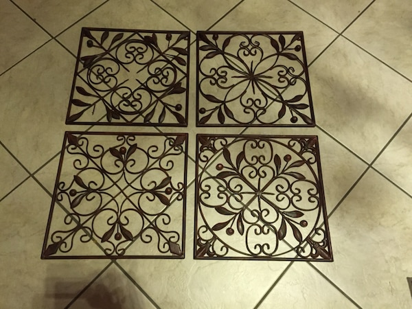 Cole And Grey 4 Piece Metal Wall Décor