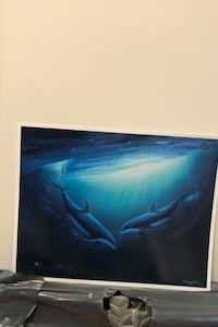 Wyland dolphin print signed by the artist about 11 x 14 Springfield, 22152