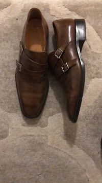 Pair of brown leather dress shoes Vancouver, V6J 2G8