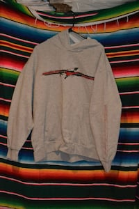 2xl gray and red nike pull over hoodie Bowie, 20721