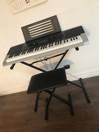 Black and white electronic keyboard Toronto