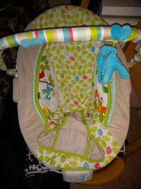 baby's white and green bouncer Edmonton, T5H 0J7