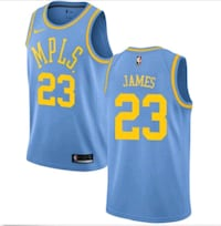 Brand new Lakers LeBron James Throwback jersey 2XL Gate City, 24251