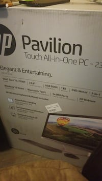 Brand new in box hp all in one computer