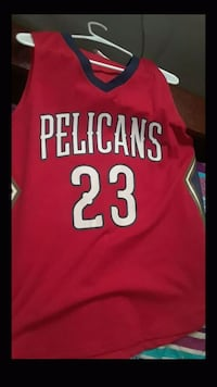 red and white Chicago Bulls 23 jersey New Orleans, 70114