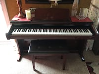 This is a church quality piano! This plays all instruments and string section, can be switched to organ setting! It is an exceptional instrument and a sacrifice at this price. Have the original owners manual Elizabethtown, 42701