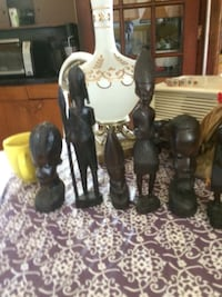 African Hand Carved Wooden Art