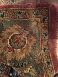 Red, green, and brown floral area rug Severna Park, 21146